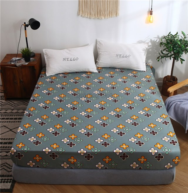 cheap 2019 Pastoral Small Floral Printed Fitted Sheet Polyester Cotton Bed With Four Corner Elastic Band Mattress Cover Protect RECOMMENDED TODAY H2 BUY Now LIMITED DISCOUNT