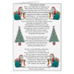 funny christmas poem santa and xmas tree art greeting card