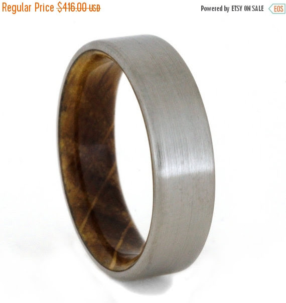 Holiday Sale 15 Off Jack Daniels Whiskey Barrel Ring With Titanium