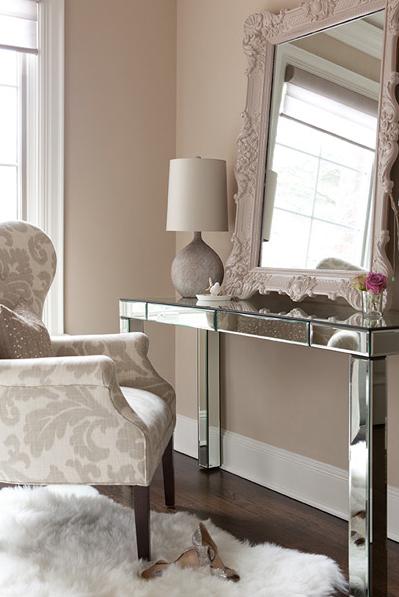 Mirrored Vanity - Transitional - bedroom - The Elegant Abode