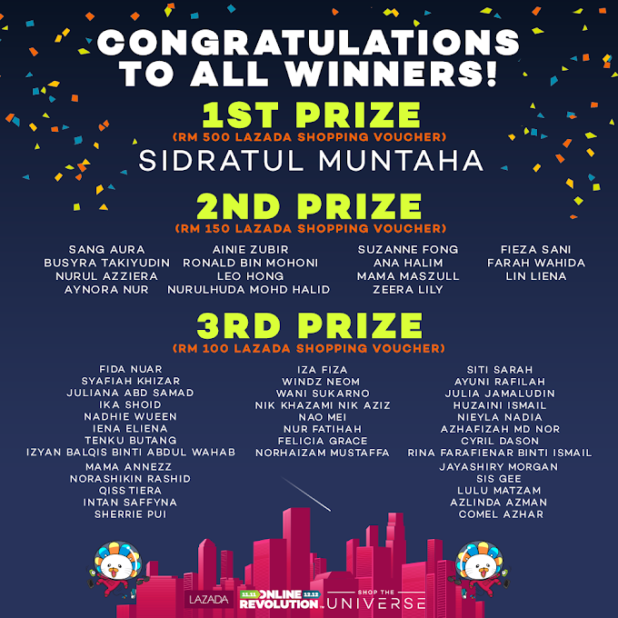 Senarai Pemenang Contest Lazada My
