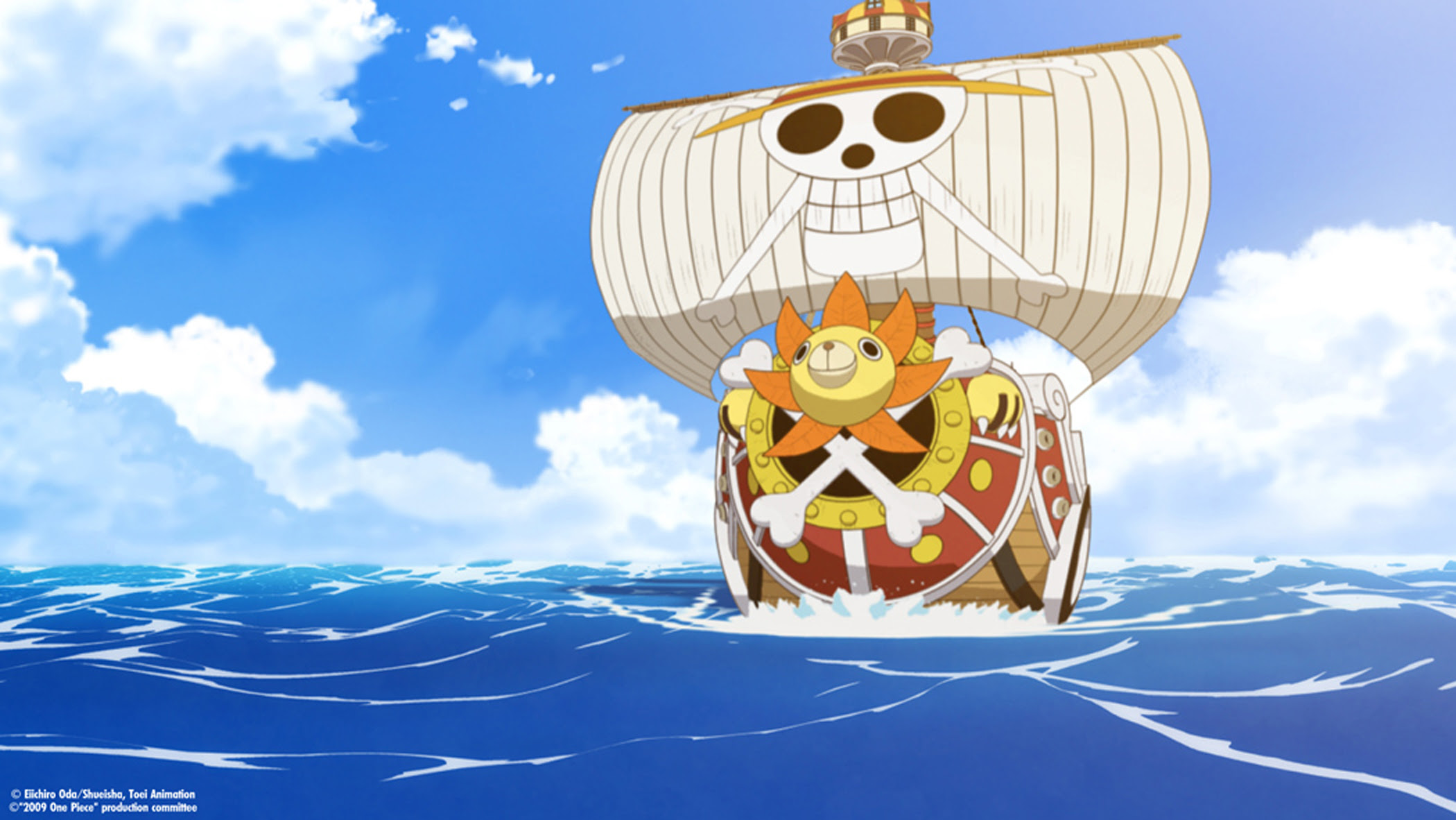 Wallpaper Pemandangan One Piece Thousand Sunny Wallpaper Hd