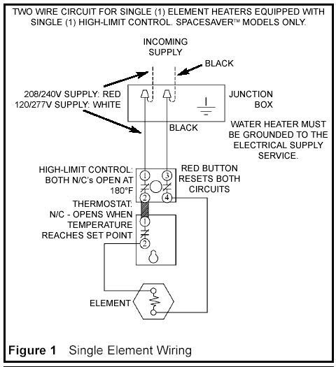 120 volt water heater wiring diagram  wiring diagram schemas