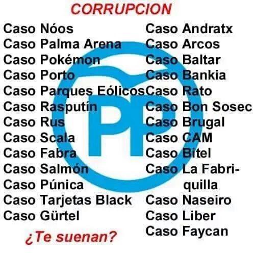 Resultado de imagen de pp corrupcion