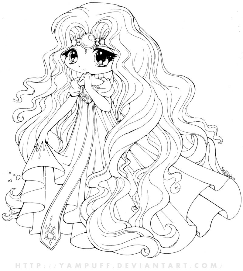 Coloring Pages For Kids Disney Princess Chibi Coloring Pages
