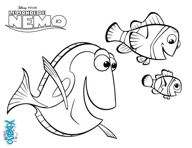 Dibujos Para Colorear Los Peces Marlin Dory Y Nemo Eshellokidscom