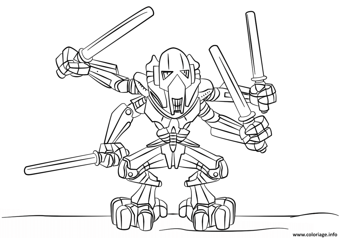 Coloriage Lego Star Wars General Grievous Jecoloriecom