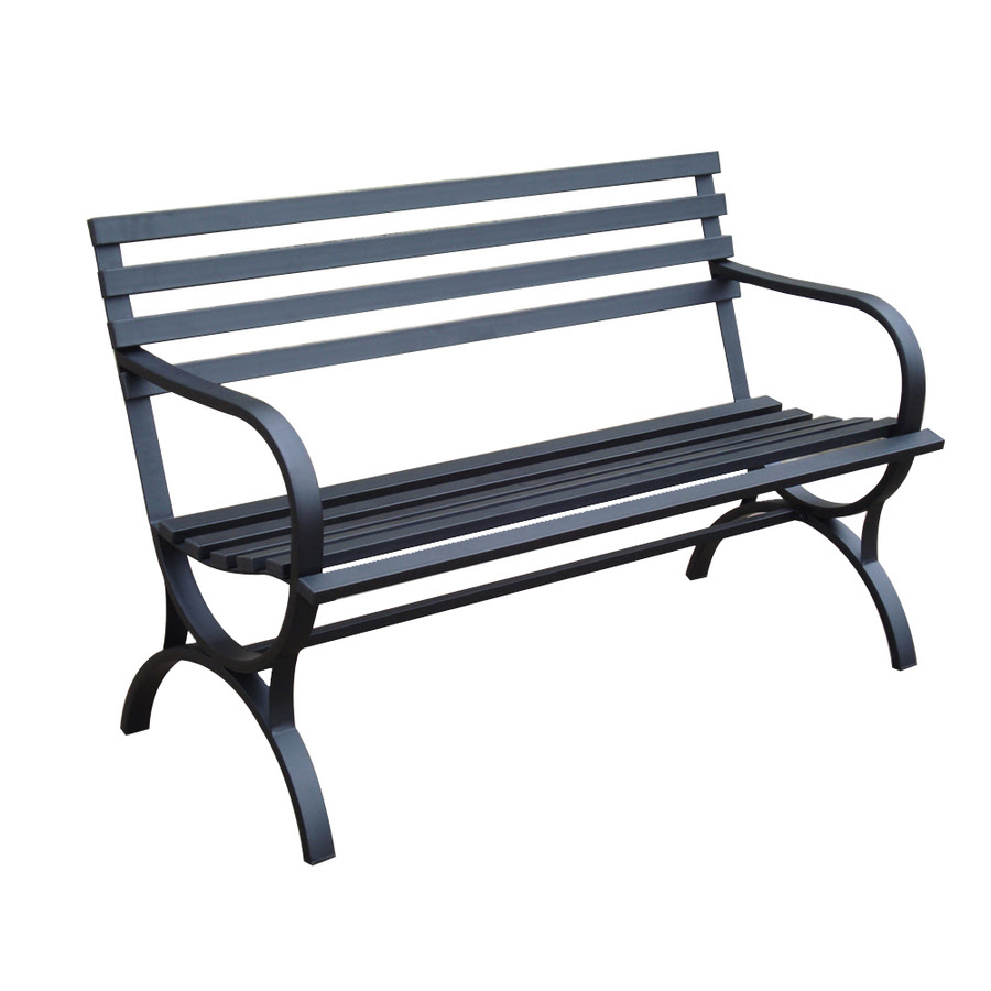 Shop Garden Treasures 23.15-in L Steel Patio Bench at Lowes.