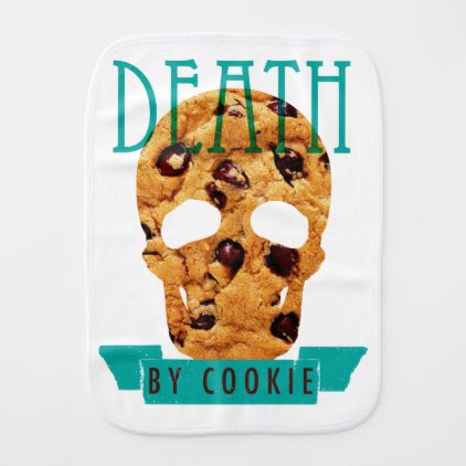 Death by cookie baby burp cloth
