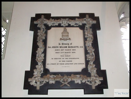 Commemorative Plaque to Sir Joseph Bazalgette