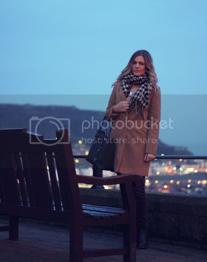 camel coat outfit post