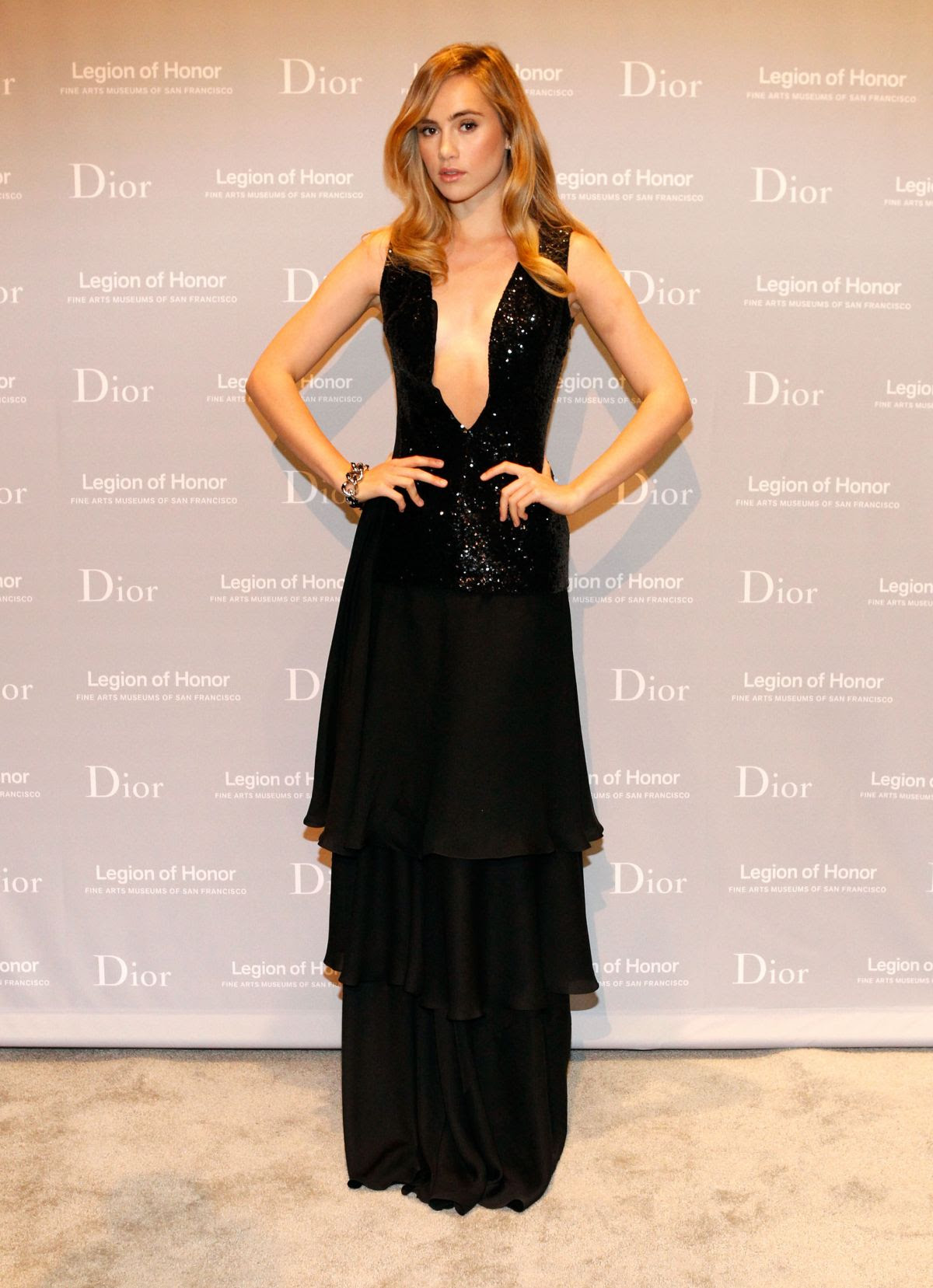 SUKI WATERHOUSE at 2015 Mid-winter Gala Presented by Dior in San Francisco