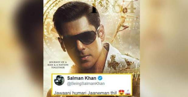 Salman Khan's New Poster from 'Bharat' – Actor in is the 90s Look Says 'Jawaani humari jaaneman thi'