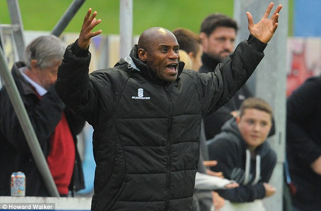 Refusal: Colwyn Bay manager Frank Sinclair said the club were 'within their rights' to refuse a replacement official