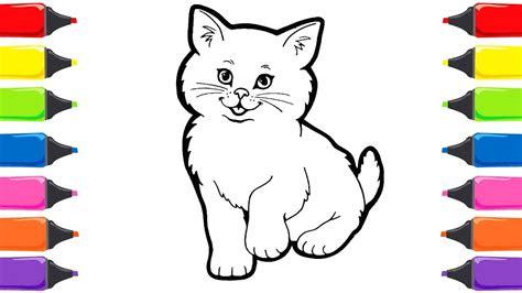 renkleri oegreniyorum kedi boyama nasil cizilir nasil