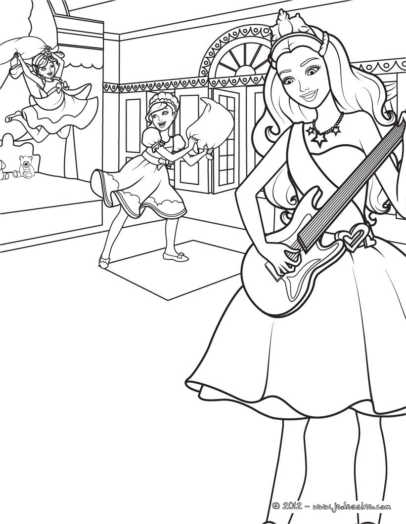 Coloriages Barbie La Princesse Et La Popstar 35 Coloriages Barbie