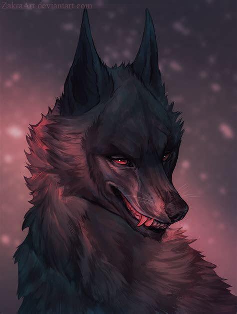 black wolf  zakraartdeviantartcom  atdeviantart