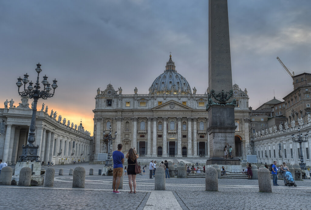 Waiting for the sunset at St. Peter's Basilica, Rome, Italy