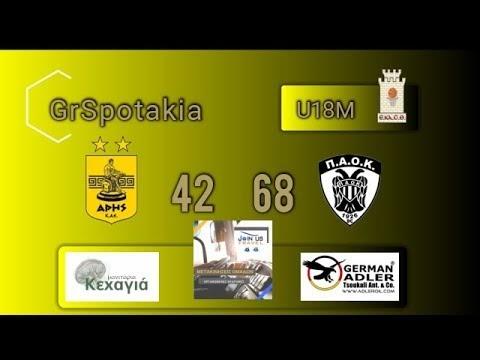 Στιγμιότυπα από τον σημερινό αγώνα εφήβων Αρης-ΠΑΟΚ 42-68
