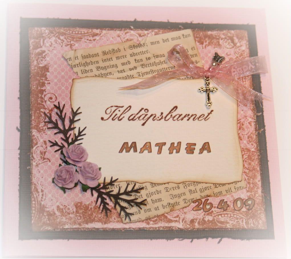 Dåpskort til Mathea