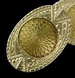 Ziething white and yellow gold cufflinks. (J8969)