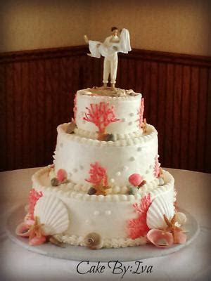 Decorating A Cake With Real Seashells