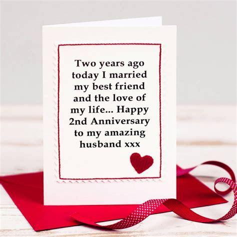 handmade second anniversary card by jenny arnott cards