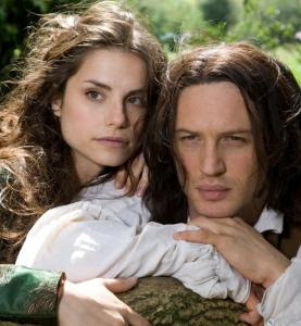 PBS via associated pressCharlotte Riley plays Cathy and Tom Hardy is Heathcliff in the PBS production of ''Wuthering Heights.''