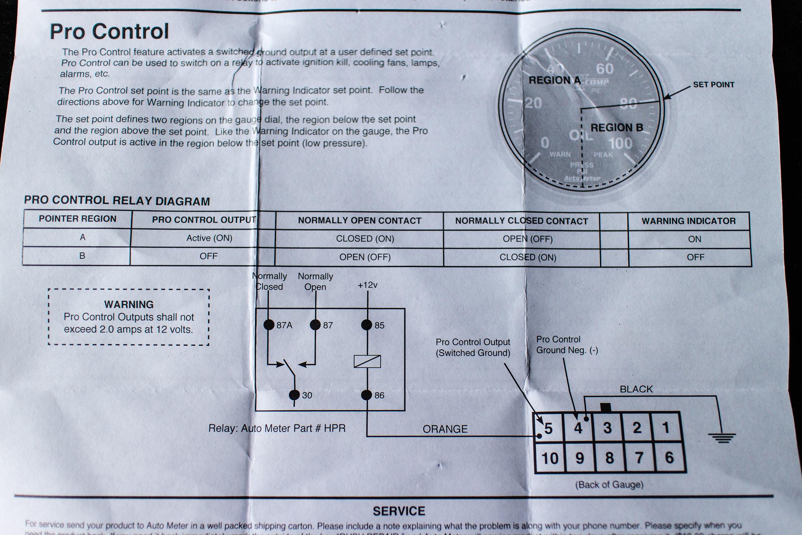 Wiring Diagram  34 Autometer Temp Gauge Wiring Diagram