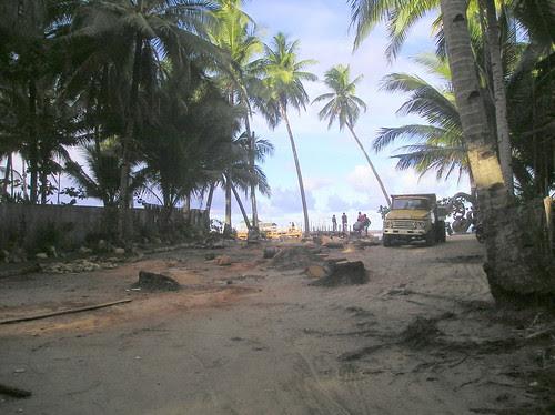 Wanton destruction at Cloud 9, Siargao Island, Philippines