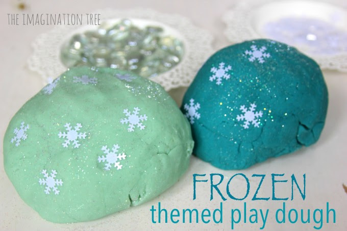 Frozen Playdough from The Imagination Tree