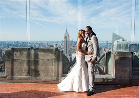 Top of the Rock Elopement   NYC Elopement Photographer