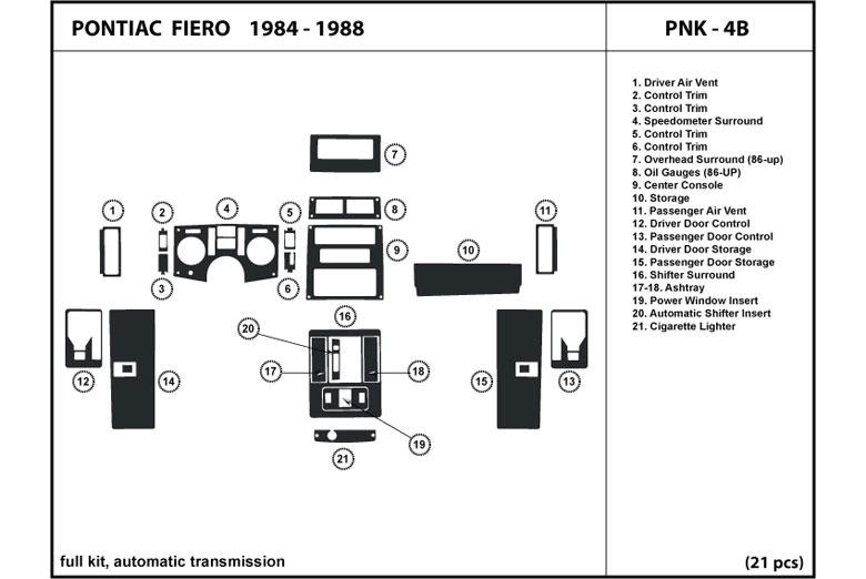 1986 Fiero Headlamp Diagram