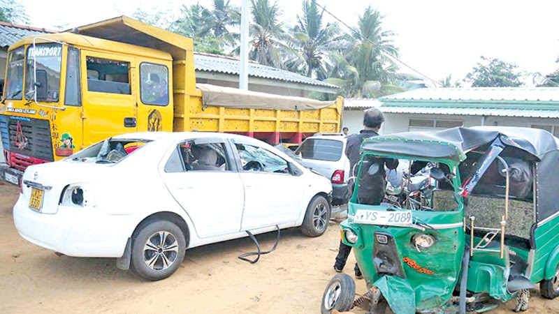 12 injured in a series of accidents