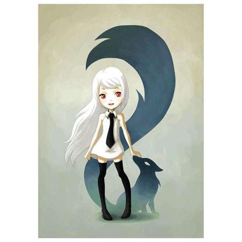 anime animal art wall sticker decal fox demon  indre