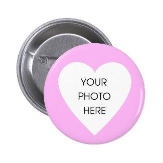 Custom Scribbleprint Heart Border ... - Customized Pinback Button