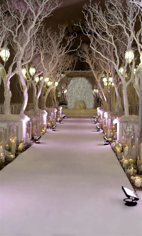 Winter Wedding Ceremony Decorations   Party Ideas   Pinterest