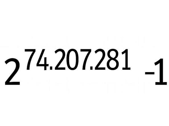 Il numero primo più grande espresso con la formula del «numero di Mersenne»