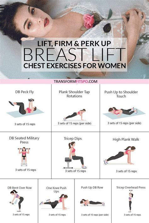 chest exercises  women  lift  perk  breasts
