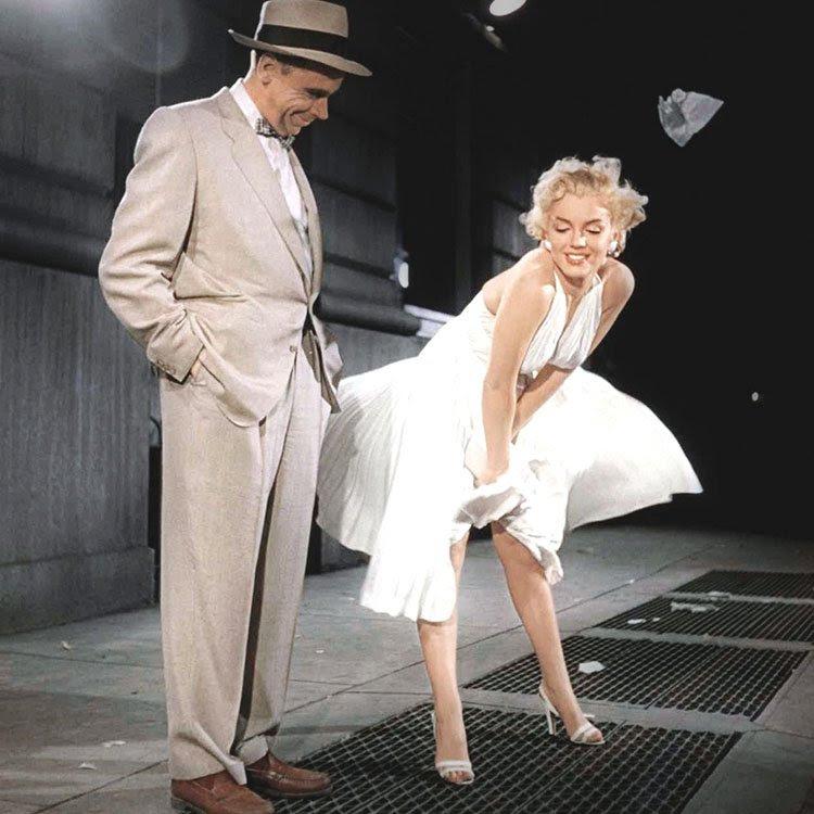 """Foto de la película de Marilyn Monroe """"The Seven Year Itch"""" con la que está inspirada la muñeca Nancy Divas edición 2015"""