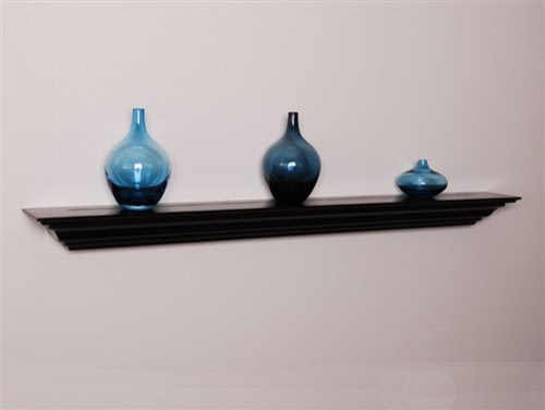 Wall Shelves, 24 inch Crown Molding Shelf - modern - wall shelves ...