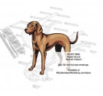 Vizsla Dog Intarsia Yard Art Woodworking Plan - fee plans from WoodworkersWorkshop® Online Store - Vizsla Dogs,pets,animals,dogs,breeds,instarsia,yard art,painting wood crafts,scrollsawing patterns,drawings,plywood,plywoodworking plans,woodworkers projects,workshop blueprints