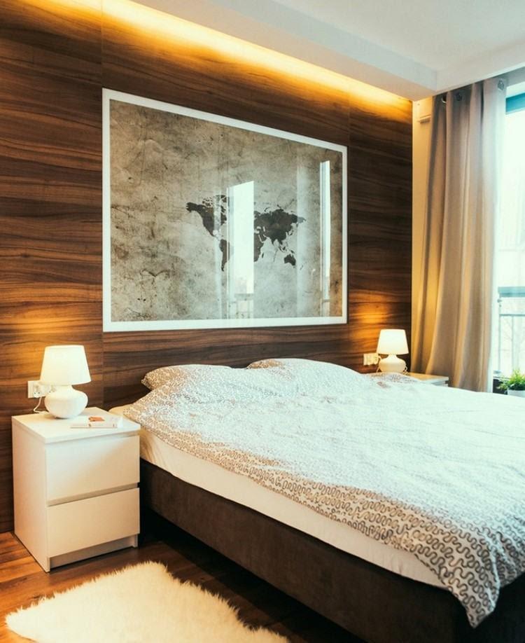 moderne schlafzimmer farben – braun vermittelt luxus