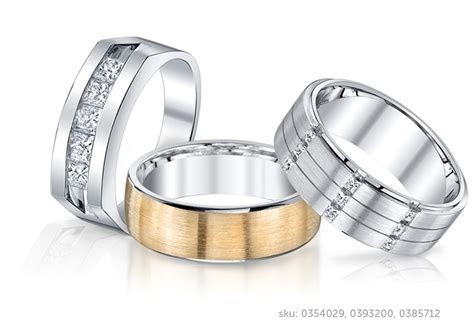 Men's Wedding Bands and Diamond Rings in Platinum, White