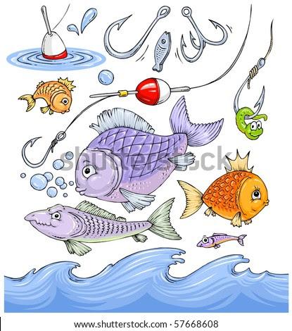 free clip art fishing. Fishing Cartoon Clip-Art