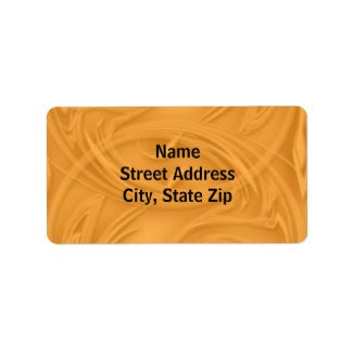 Curls Over Orange Custom Address Label