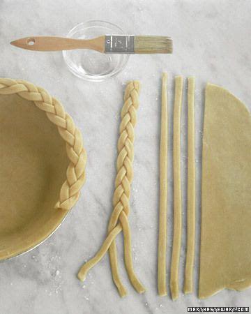 Simple and elegant. Braided pie crust.