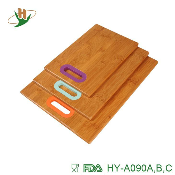 3 Piece Bamboo Cutting Board Set Wooden Cutting Boards For Kitchen
