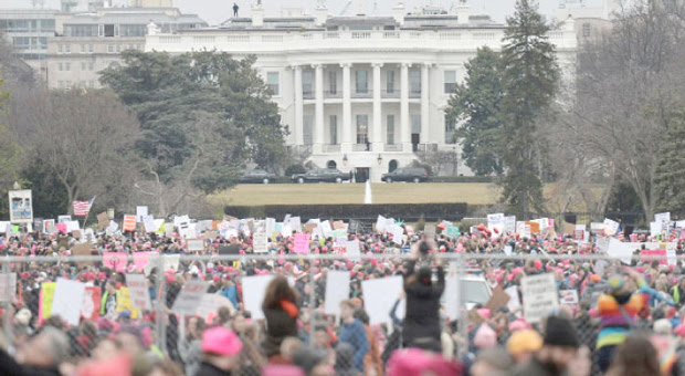protestors gathered outside the white house to protest against elite pedophilia
