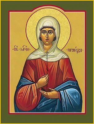 Sainte Raïssa. Martyre à Alexandrie (4ème s.)
